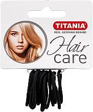 Духи, Парфюмерия, косметика Зажим для волос эластичный маленький, черный - Titania
