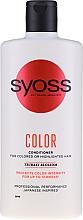 Духи, Парфюмерия, косметика Бальзам для окрашенных и тонированных волос - Syoss Color Tsubaki Blossom Conditioner