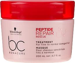 Духи, Парфюмерия, косметика Восстанавливающая маска для тонких и нормальных поврежденных волос - Schwarzkopf Professional BC Bonacure Peptide Repair Rescue Treatment Mask