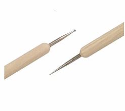 Дотс двусторонний для дизайна ногтей, дерево - Silcare — фото N2
