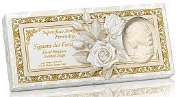 """Духи, Парфюмерия, косметика Набор натурального мыла в форме леди """"Цветочный букет"""" - Saponificio Artigianale Floral Bouquet Soap (soap/3pcsx125g)"""