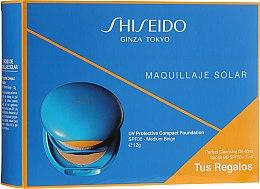 Духи, Парфюмерия, косметика Набор - Shiseido Expert Sun Compact Foundation Spf30 (sun/prot/12g+oil/40ml+cr/7ml)