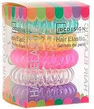 Духи, Парфюмерия, косметика Набор разноцветных резинок для волос, силиконовые, 5 шт - IDC Institute Design Hair Bands Pack