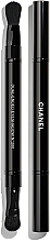 Духи, Парфюмерия, косметика Двусторонняя кисть для теней - Chanel Retractable Dual-Ended Eyeshadow Brush №200