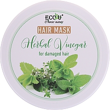 Духи, Парфюмерия, косметика Маска для поврежденных волос - Eco U Hair Mask Herbal Vinegar For Damaged Hair