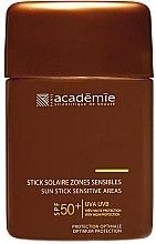 Духи, Парфюмерия, косметика Защитный карандаш для чувствительных зон - Academie Sun Stick Sensitive Areas SPF 50+