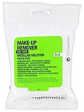 Духи, Парфюмерия, косметика Очищающие салфетки для жирной и комбинированной кожи - Comodynes Make-up Remover Micellar Solution 3in1