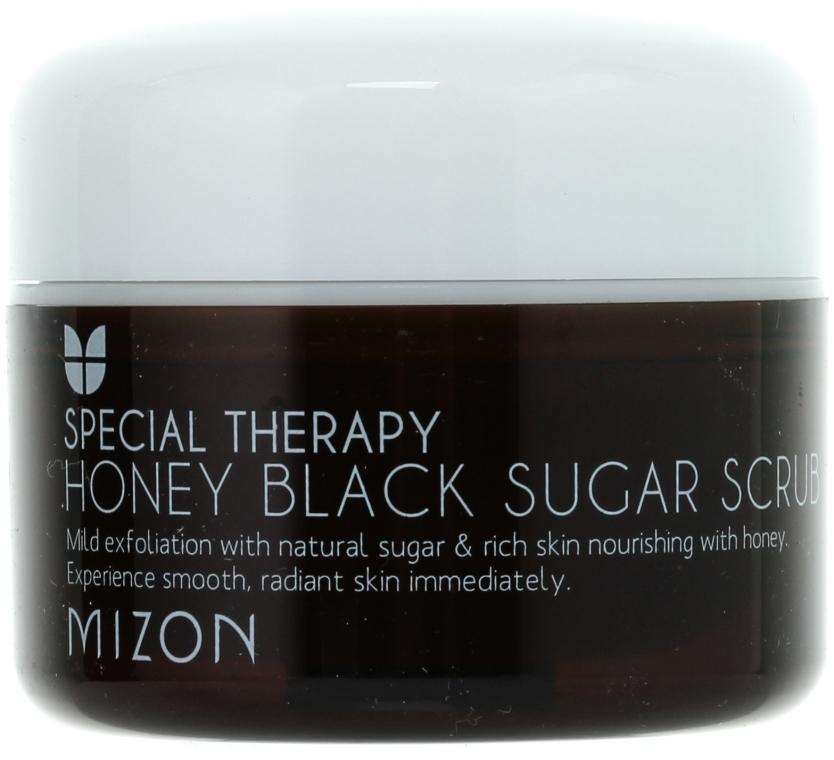 Скраб с черным сахаром и медом - Mizon Honey Black Sugar Scrub — фото N2