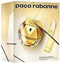 Духи, Парфюмерия, косметика Paco Rabanne Lady Million Traveler Exclusive - Набор (edp/80ml + edp/10ml)