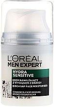 Духи, Парфюмерия, косметика Увлажняющий крем с экстрактом березы для чувствительной кожи - L'Oréal Paris Men Expert Hydra Sensitive 25+