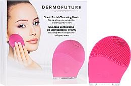 Духи, Парфюмерия, косметика Звуковая щетка для очищения лица, розовая - Dermofuture