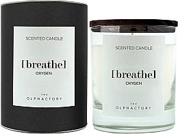 Духи, Парфюмерия, косметика Ароматическая свеча - Ambientair The Olphactory Black Design Breathe Oxygen