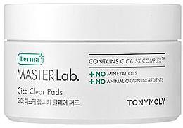 Духи, Парфюмерия, косметика Очищающие патчи для лица - Tony Moly Derma Master Lab. Cica Clear Pads