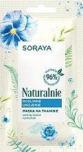 Духи, Парфюмерия, косметика Растительная рельефная тканевая маска - Soraya Naturalnie Face Mask