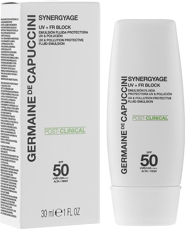 Эмульсия высокой защиты - Germaine de Capuccini Synergyage UV+FR Block Emulsion SPF50 — фото N2