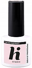 Духи, Парфюмерия, косметика Верхнее матовое покрытие для ногтей - Hi Hybrid Top No Wipe Matt