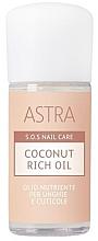 Духи, Парфюмерия, косметика Кокосовое масло для ногтей и кутикулы - Astra Make-up Sos Nails Care Coconut Rich Oil