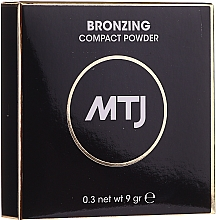 Духи, Парфюмерия, косметика Бронзирующая пудра для лица - MTJ Cosmetics Bronzing Compact Powder