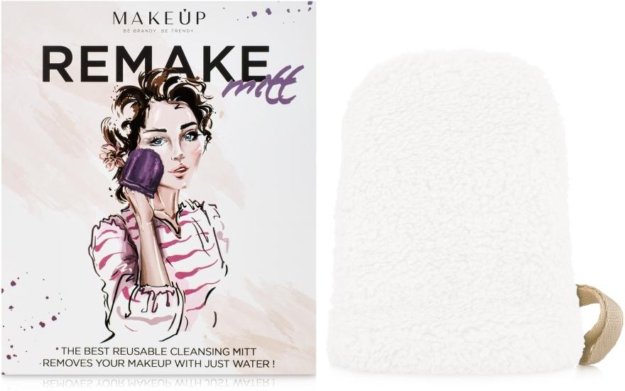 """Рукавичка для снятия макияжа, молочная """"ReMake"""" - MakeUp — фото N1"""