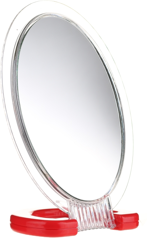 Зеркальце косметическое 5176, красное - Top Choice — фото N1