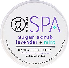 Духи, Парфюмерия, косметика Разглаживающий рисовый скраб - BCL SPA Lavender + Mint