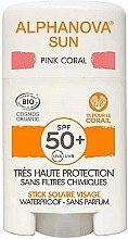 Духи, Парфюмерия, косметика Солнцезащитный стик - Alphanova Sun Pink Coral SPF50+