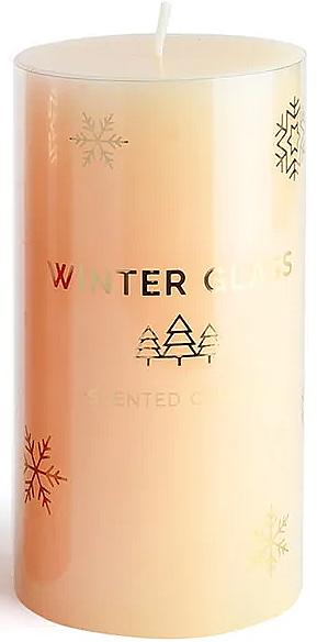 Ароматическая свеча, кремовая, 7х8см - Artman Winter Glass — фото N1