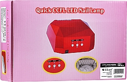 Духи, Парфюмерия, косметика Лампа для маникюра - Silcare Diamond LED CCFL UV 36W Lamp White