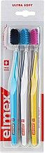 Духи, Парфюмерия, косметика Зубные щетки, ультра мягкие, голубая+желтая+белая - Elmex Swiss Made
