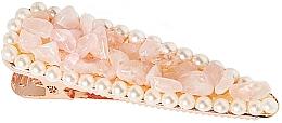 "Духи, Парфюмерия, косметика Заколка для волос ""Розовый кварц"" - Crystallove Rose Quartz Hair Clip"