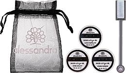 Духи, Парфюмерия, косметика Набор - Alessandro International Cat Eye Set (gel/5ml + magnet + bag)