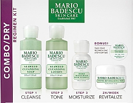 Духи, Парфюмерия, косметика Набор - Mario Badescu Combo Dry Regimen Kit (gel/59ml+lot/59ml+cr/29ml+mask/14g+eye/cr/3g)