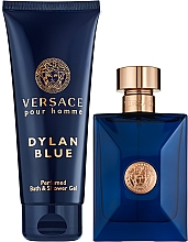 Духи, Парфюмерия, косметика Versace Pour Homme Dylan Blue - Набор (edt/100ml + sh/gel/100ml)