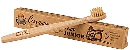 Духи, Парфюмерия, косметика Детская бамбуковая зубная щетка, мягкая - Curanatura Bamboo Junior