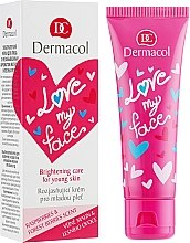 Духи, Парфюмерия, косметика Крем-сорбет для лица восстанавливающий - Dermacol Love My Face Rasberries & Forst Berries Scent Face Cream