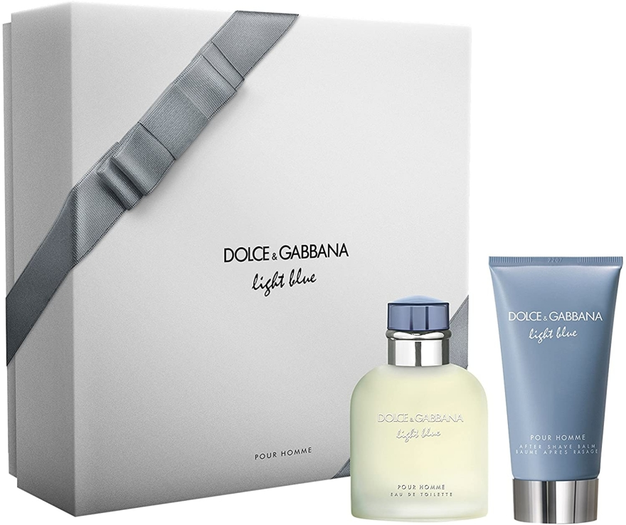 Dolce & Gabbana Light Blue Pour Homme - Набор (edt/75ml + ash/balm/75ml) — фото N1