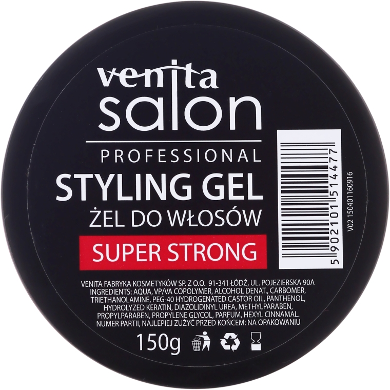 Гель для волос - Venita Salon Professional Styling Gel Super & Mega Strong — фото N4