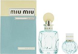 Духи, Парфюмерия, косметика Miu Miu L'Eau Bleue - Набор (edp/100ml + edp/20ml)