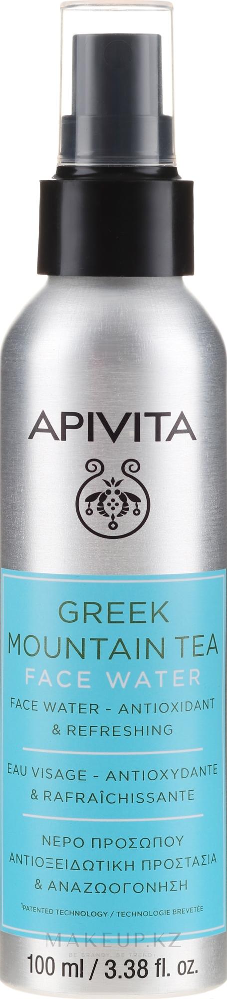 """Антиоксидантная и освежающая вода для лица """"Греческий горный чай"""" - Apivita Greek Mountain Tea Face Water — фото 100 ml"""
