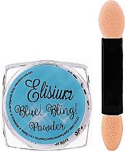 Духи, Парфюмерия, косметика Пудра для ногтей - Elisium Blue Bling Powder