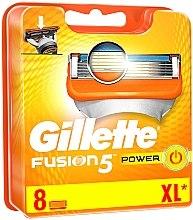 Духи, Парфюмерия, косметика Сменные кассеты для бритья, 8 шт. - Gillette Fusion Power