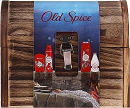 Духи, Парфюмерия, косметика Набор - Old Spice Deep Sea Wooden Chest (deo/spray/150ml + deo/50g + sh/gel/250ml + ash/lot/100ml)