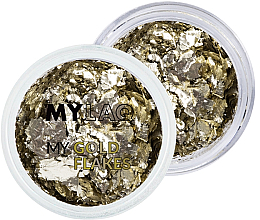 Духи, Парфюмерия, косметика Золотые хлопья для дизайна ногтей - MylaQ My Gold Flakes
