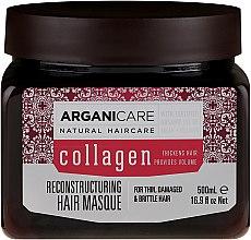 Духи, Парфюмерия, косметика Маска для волос с коллагеном - Arganicare Collagen Reconstructuring Hair Masque