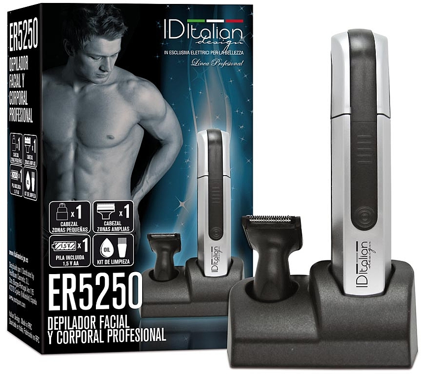 Электрический эпилятор для лица и тела ER5250 - Id Italian Electric Hair Remover Body&Care — фото N1