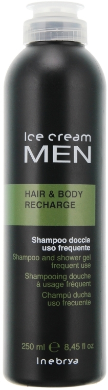 Тонизирующий шампунь-гель для душа - Inebrya Ice Cream Men Hair and Body Recharge — фото N1