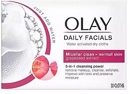 Духи, Парфюмерия, косметика Активированные водой сухие салфетки - Olay Cleanse Daily Facials Eater Activated Dry Cloths