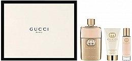 Духи, Парфюмерия, косметика Gucci Guilty Pour Femme - Набор (edp/90+ b/l/50 + edp/15)