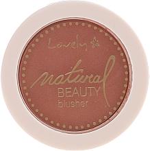 Духи, Парфюмерия, косметика Компактные румяна для лица - Lovely Natural Beauty Blusher