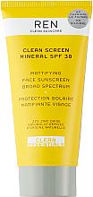 Духи, Парфюмерия, косметика Матирующий солнцезащитный крем - Ren Clean Screen Mattifying Face Sunscreen SPF 30